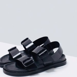 Zara Basic Collection Buckle Sandals Sz 7